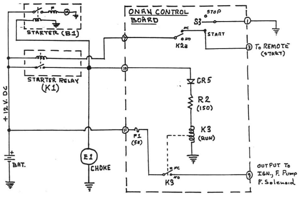 onan control board operation onan wiring circuit diagram onan rv generator wiring diagram #4